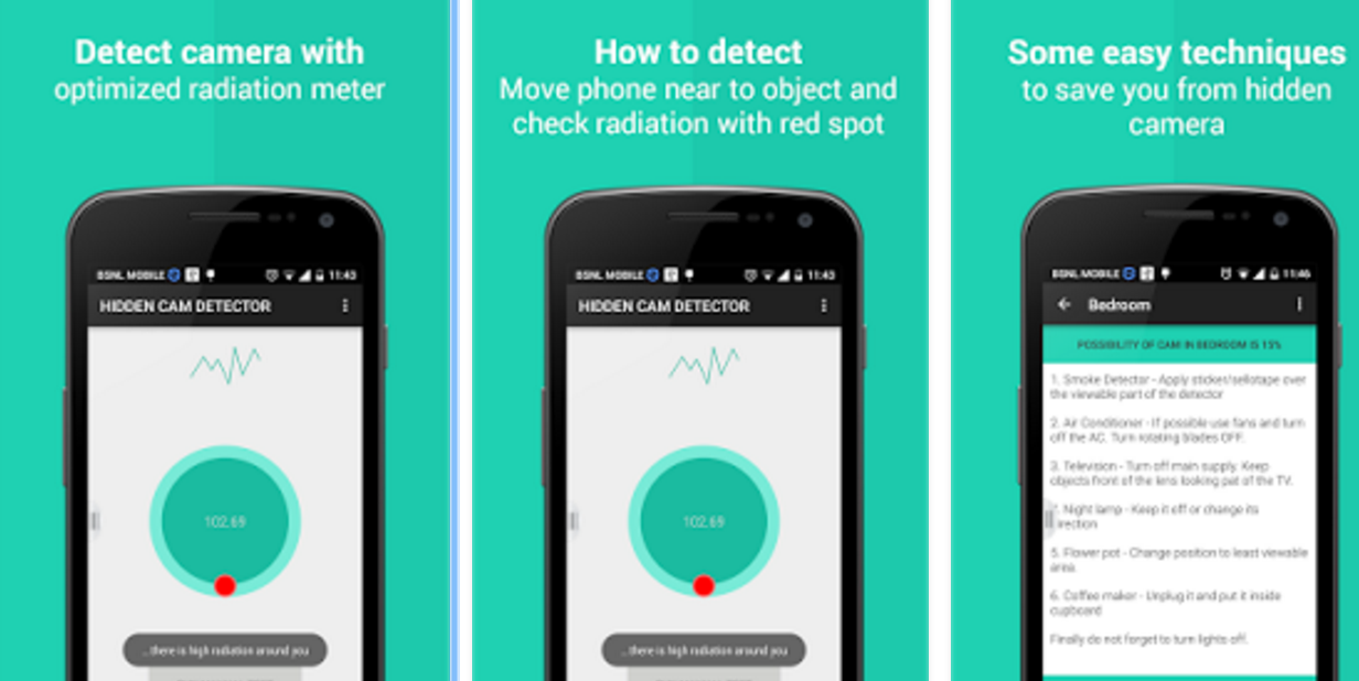 best free hidden camera detector app for android