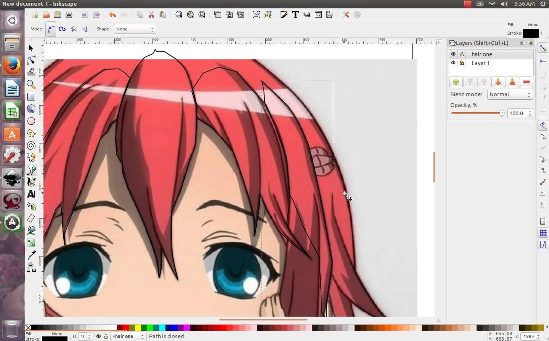 Inkscape - Manga Drawing Software