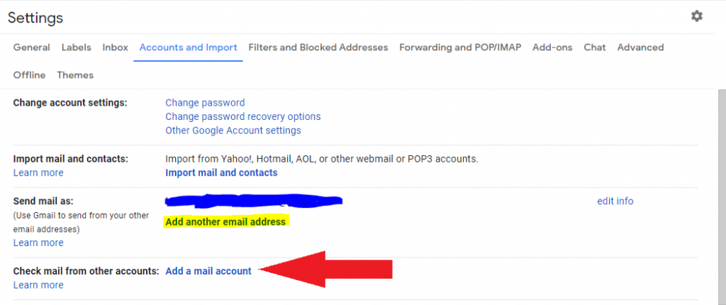 add another mail address on gmail