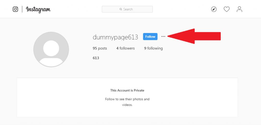 user profile instagram desktop
