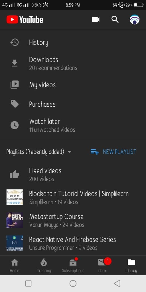youtube channel videos android