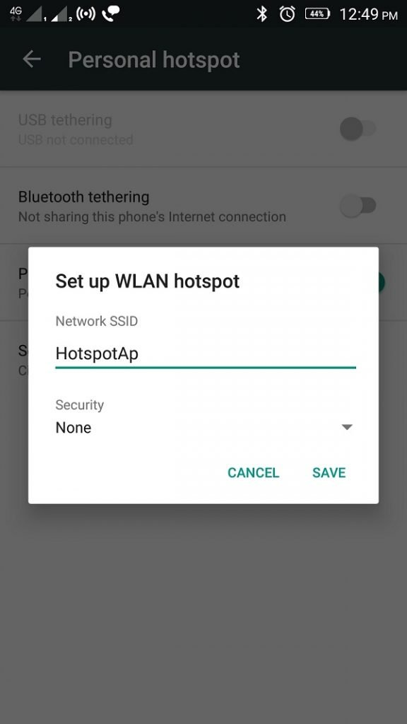 changing Wifi Password Android