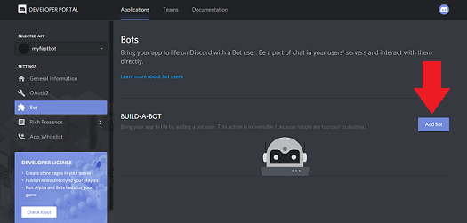 build a bot discord