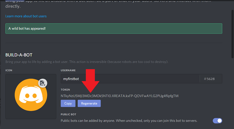 reveal token discord bot