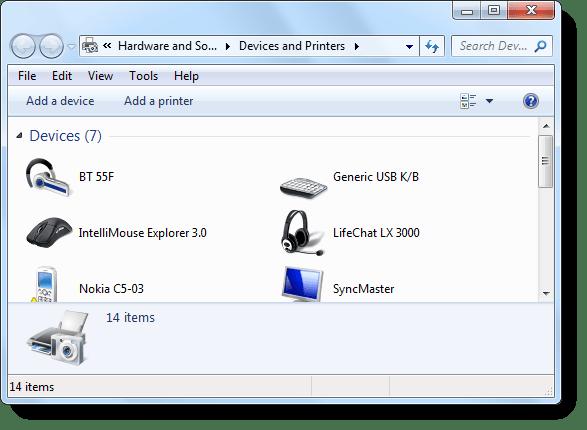 my devices bluetooth headphones windows 7