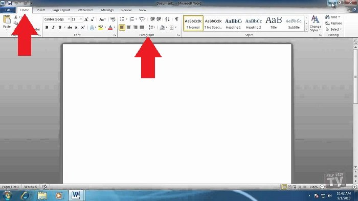 double spacing in word 2010 paragraph settings
