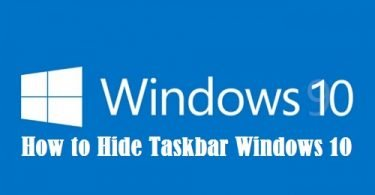 How To The Hide Taskbar On Windows 10