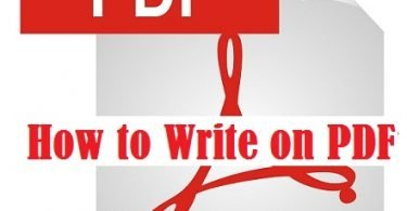 how to write on PDF