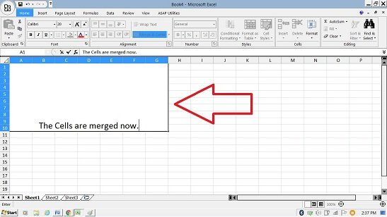 merge cells in excel Merge and Center