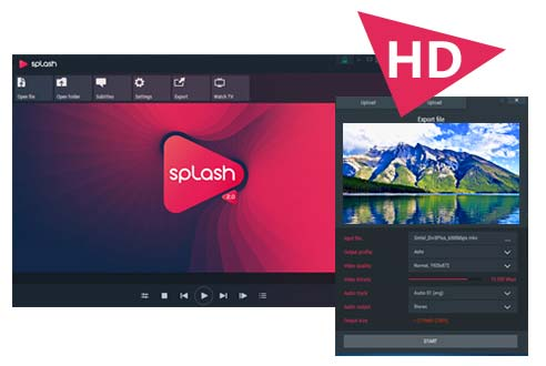 Splash video player for windows