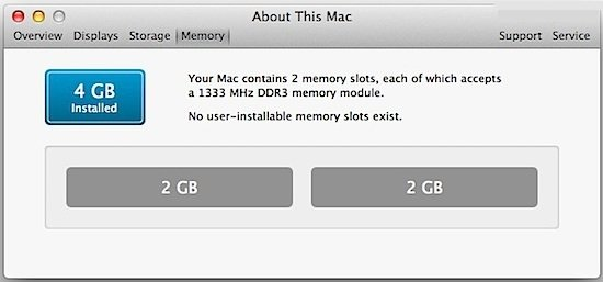installed memory on mac