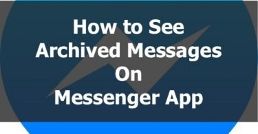 How to see archived messages on messenger app copy
