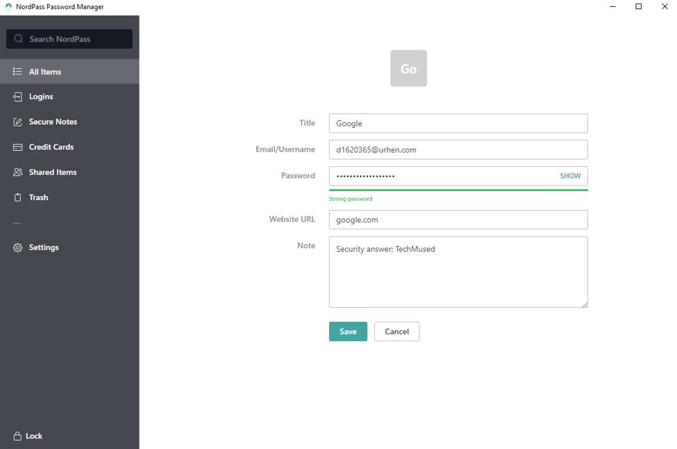 NordPass Desktop App 3