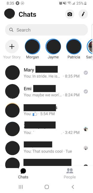 How to see an archived message on messenger app