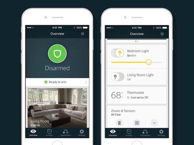 Xfinity Home App Home Screen