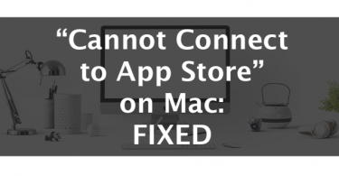 cannot connect to app store mac