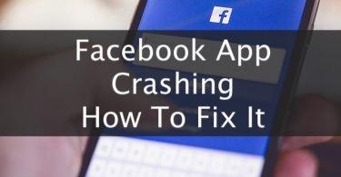 facebook app crashing