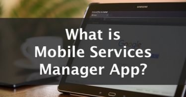 what is mobile services manager app