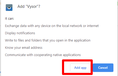 Confirm Vysor Installation
