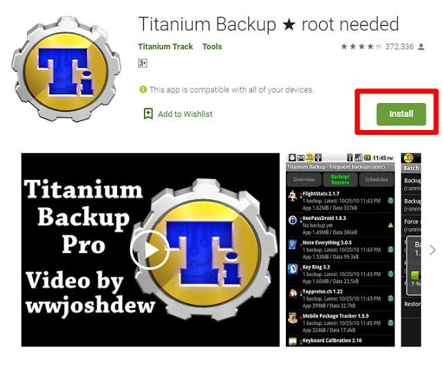Download Titanium Backup App