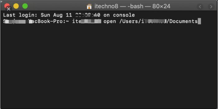 Open the Terminal on Mac
